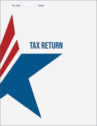 Tax Return Folders - Patriotic with Vertical and Horizontal Pockets - #155