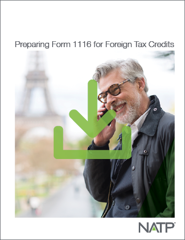 Preparing Form 1116 for Foreign Tax Credits Textbook E-book (2021) - PDF Version - #E21360