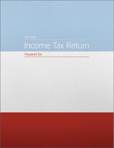 Tax Return Folders - Striped w/2 pockets & die cuts - #142