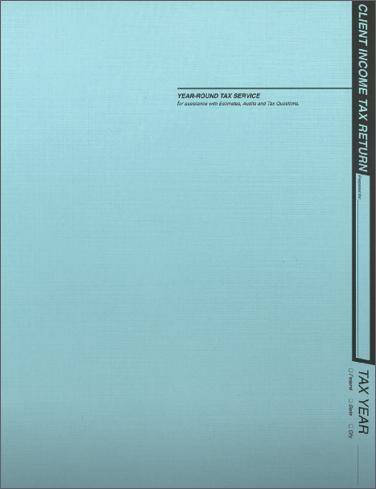 Tax Return Folders - Soft Blue Linen - #121