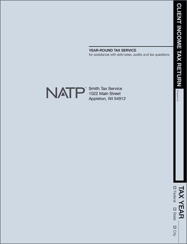 Tax Return Folders - Soft Blue - Personalized - #80121
