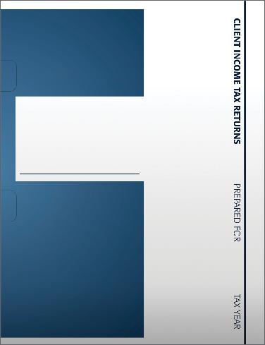 Tax Return Folders - Blue and White w/Pocket - #141