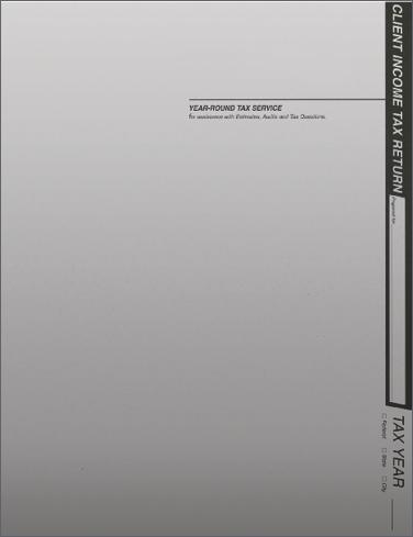 Tax Return Folders - Light Gray w/Pocket - #154
