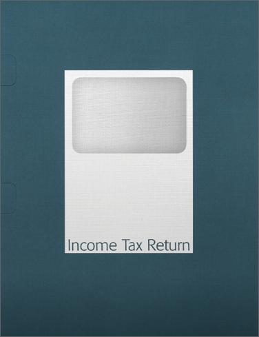 Tax Return Folders – Steel Blue with Window - #143