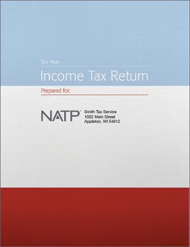 Tax Return Folders - Striped w/2 pockets & die cuts - Personalized - #25142