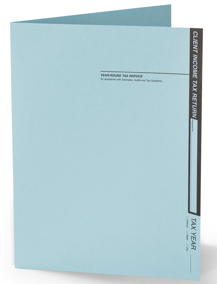 Client Folders - Soft Blue Linen - #121