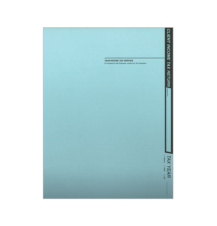 Tax Return Folders - Soft Blue Linen - #121