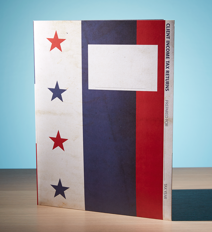 Client Folders - Stars and Stripes w/Pocket - #140