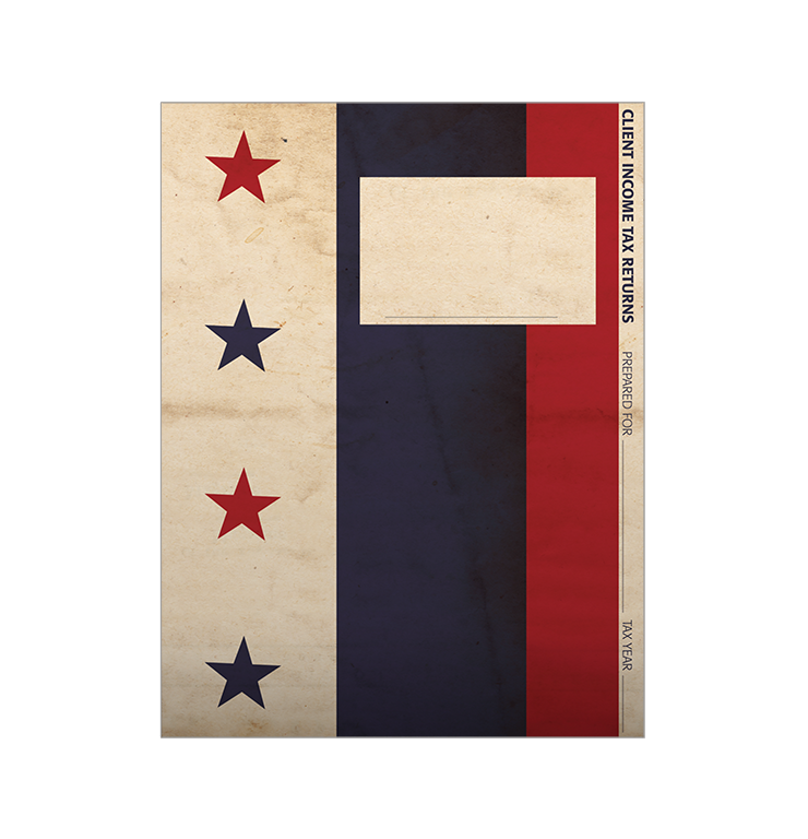 Tax Return Folders - Stars and Stripes w/Pocket - #140