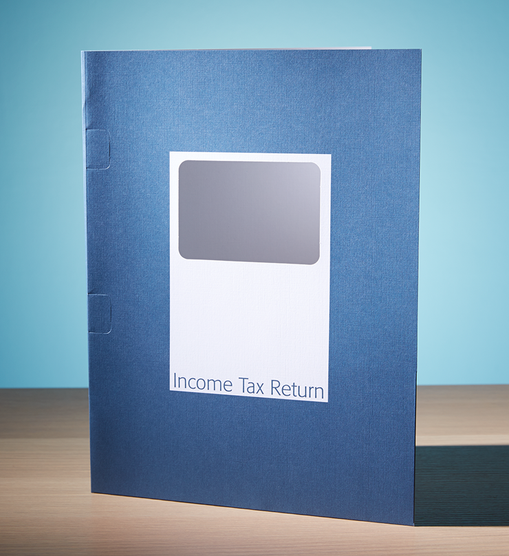 Client Folders – Steel Blue with Window - #143