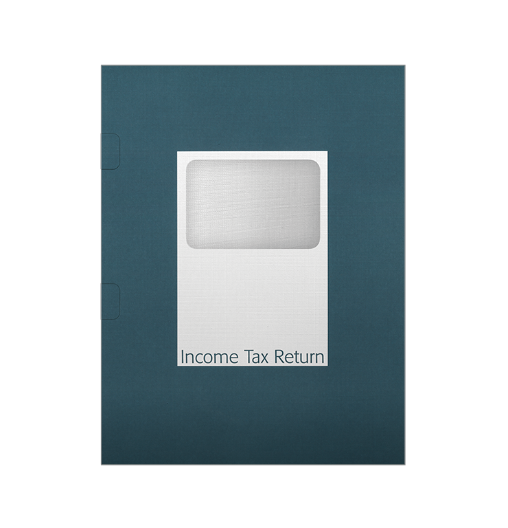 Tax Return Folders – Steel Blue with Window - #143