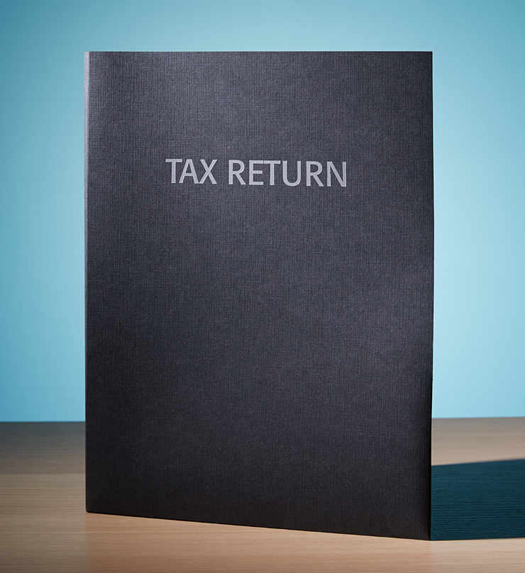 Client Folders – Premium Tax Folder with Box Pocket  –  #145