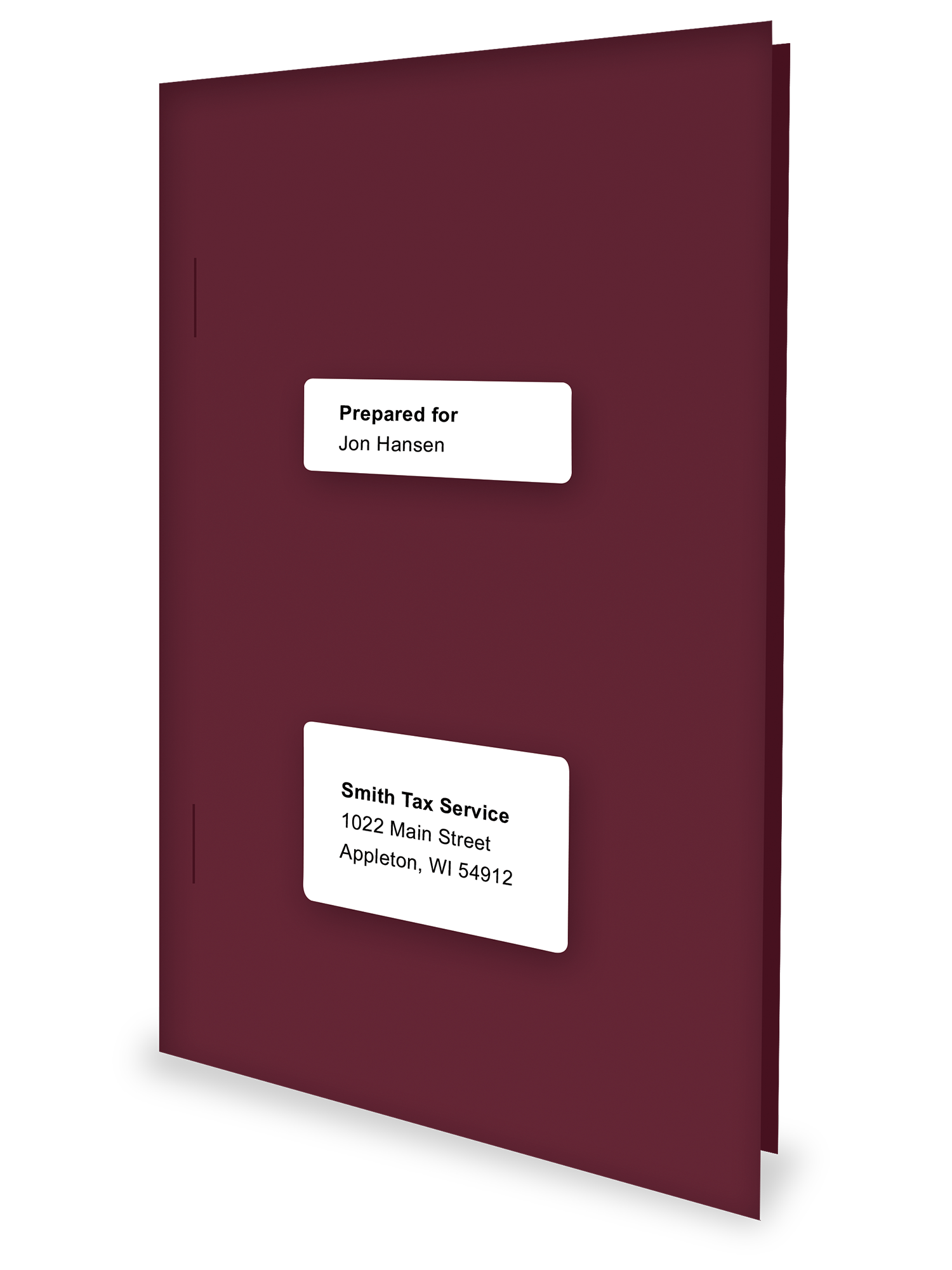 Client Folders - Burgundy - Software Compatible - #150