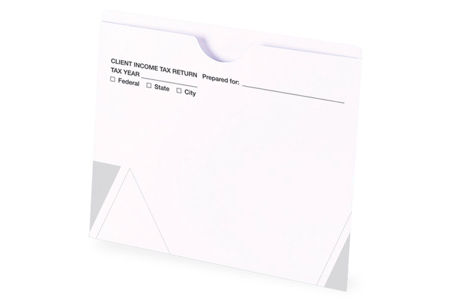 Tax Return Folders - White - File Jacket - #153