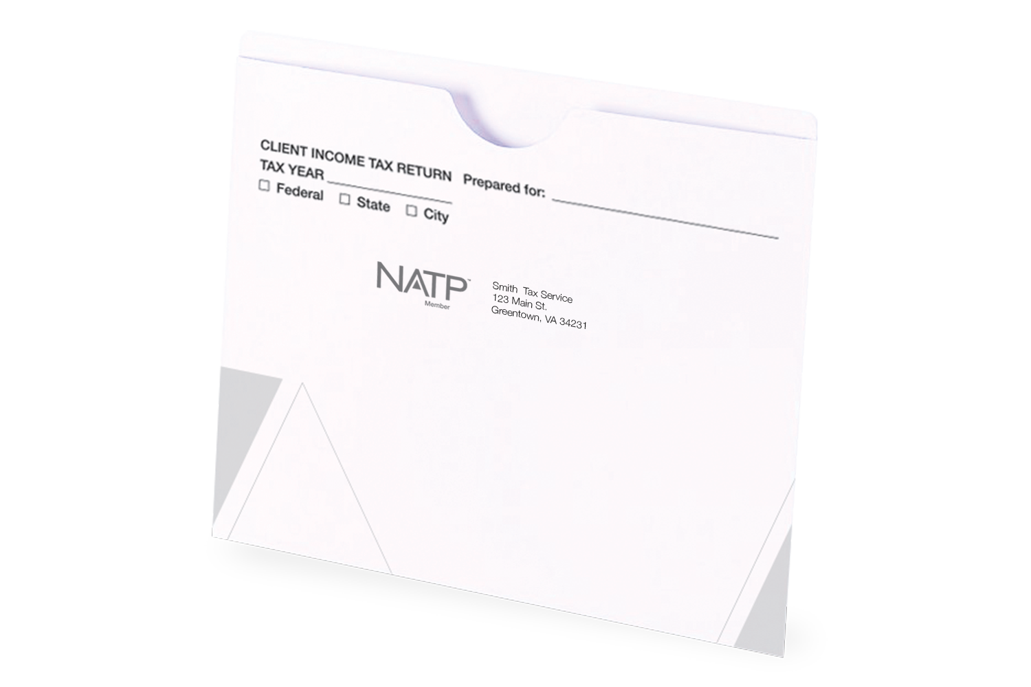 Client Folders - White - File Jacket - Personalized - #25153