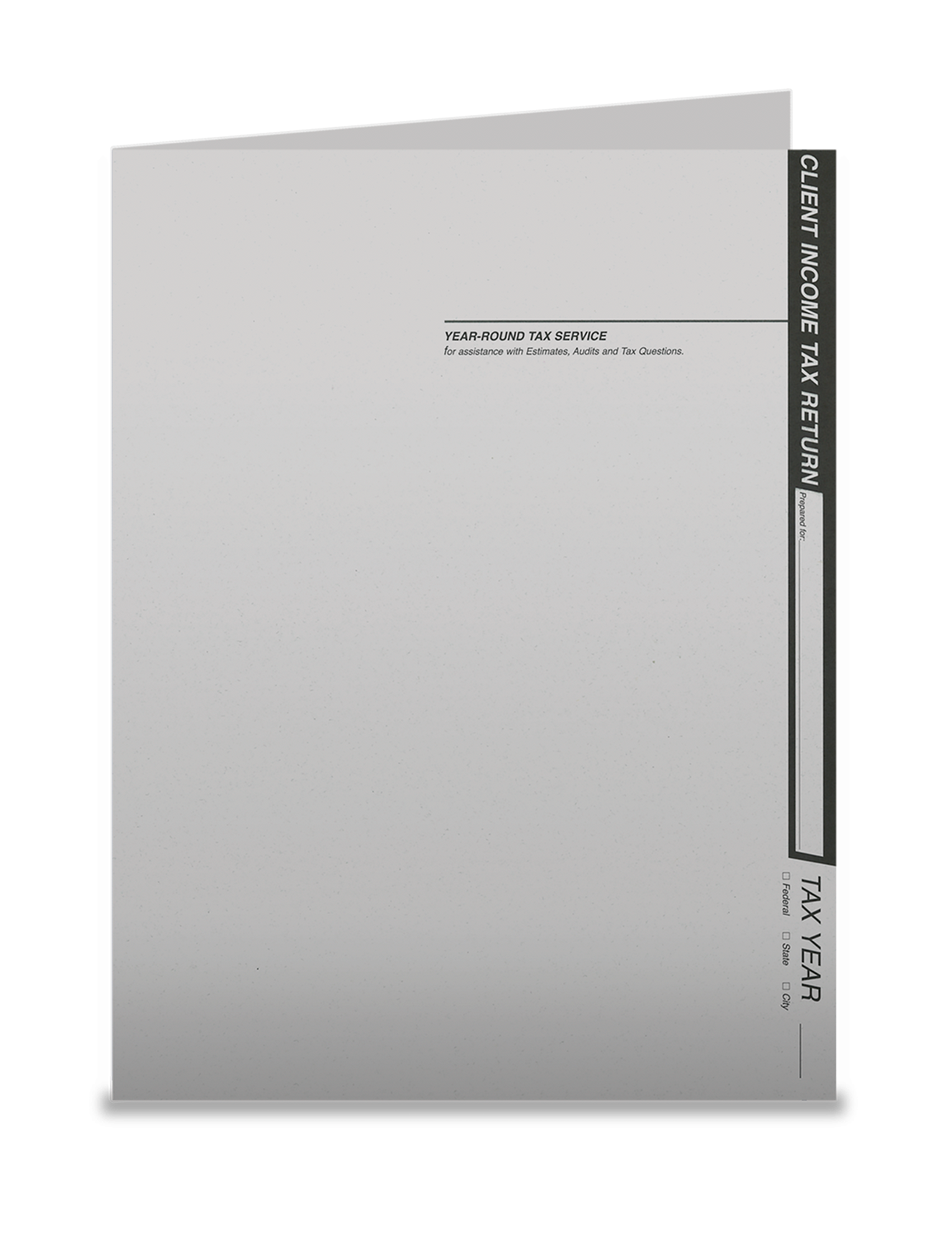 Tax Return Folders - Light Gray w/Pocket - #154