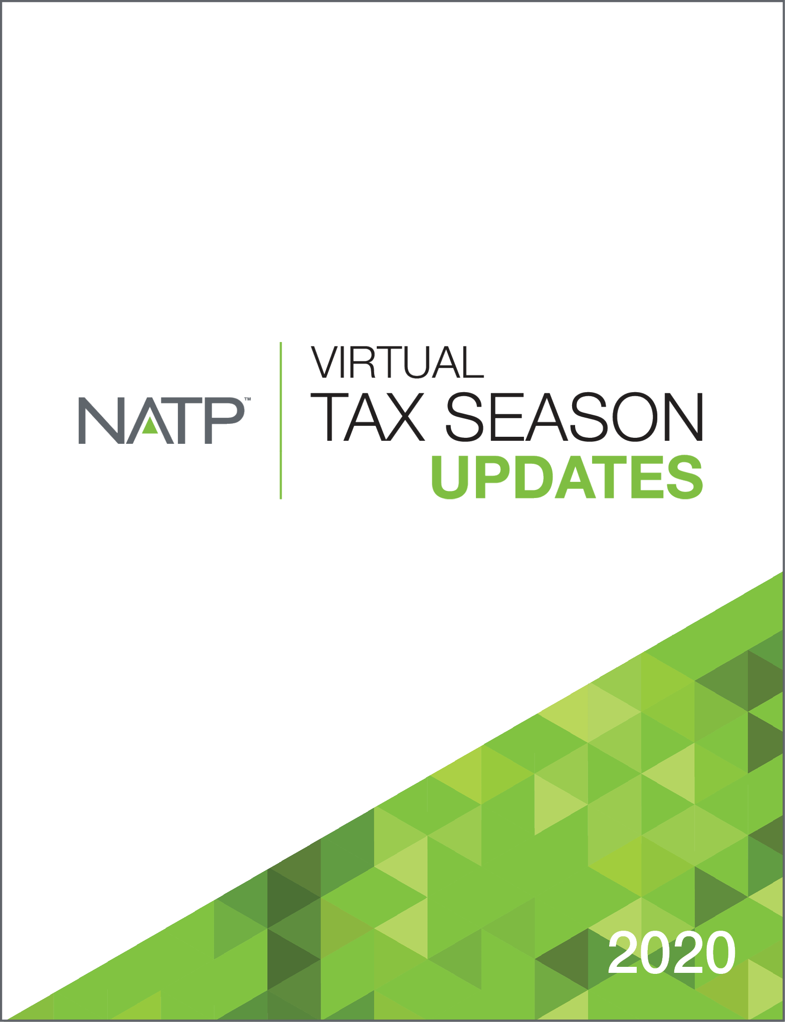 Virtual Tax Season Updates Textbook (2020) - #20339