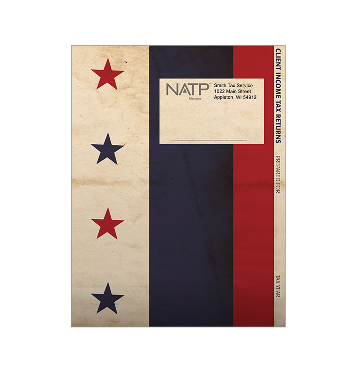 Tax Return Folders - Stars and Stripes w/Pocket - Personalized - #25140