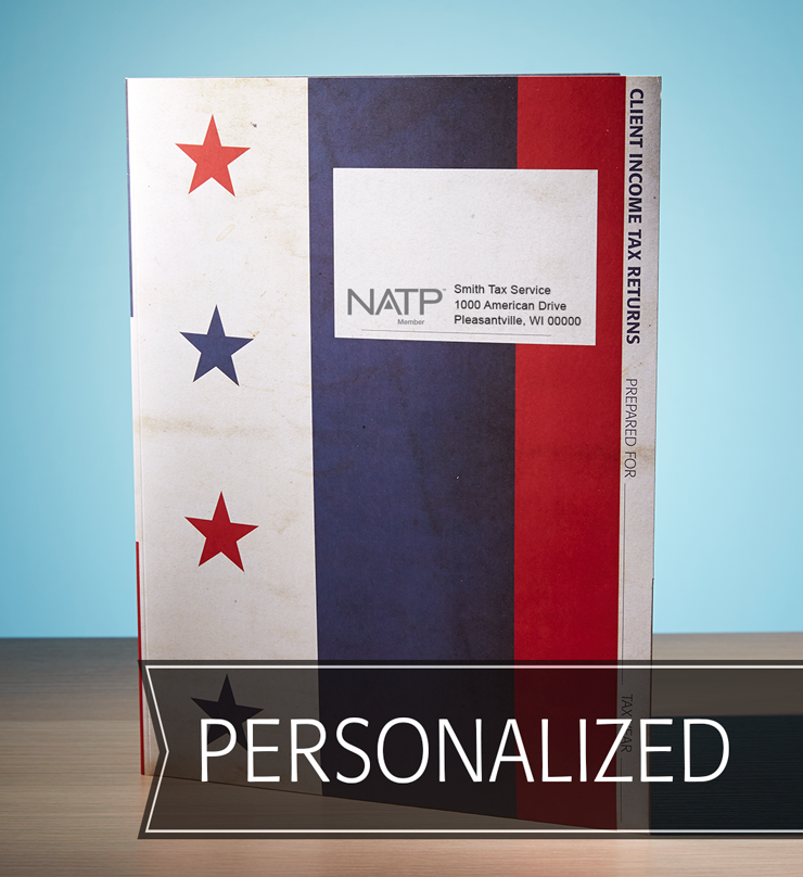 Client Folders - Stars and Stripes w/Pocket - Personalized - #25140
