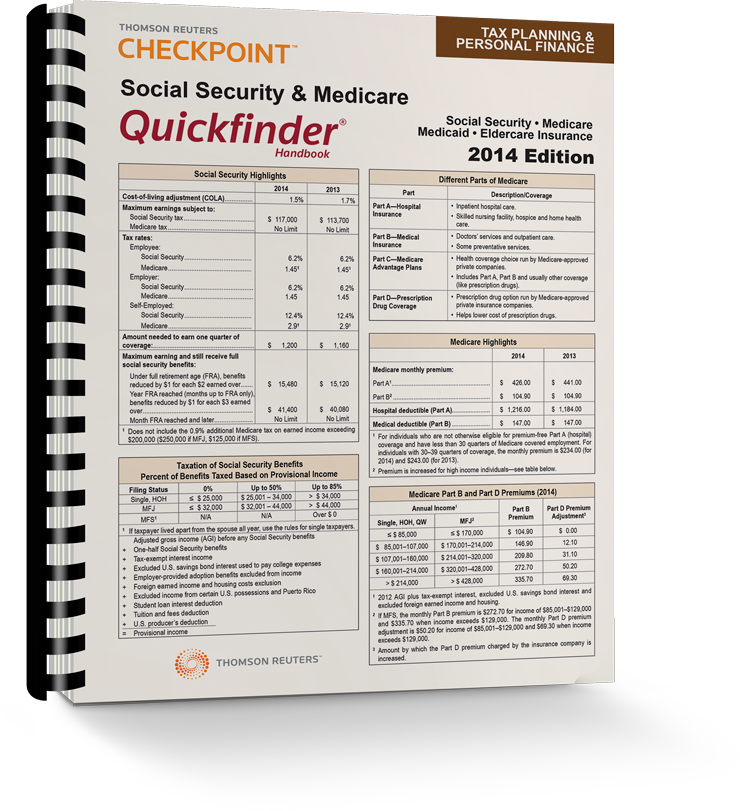 Social Security and Medicare Quickfinder Handbook (2014) - #3415