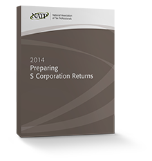 Preparing S Corporation Returns Textbook (2014) - #3448S