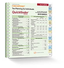 Tax Planning for Individuals Quickfinder® Handbook (2014) – #3489