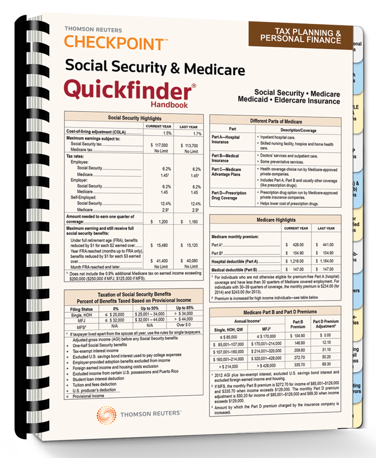 Social Security and Medicare Quickfinder Handbook (2015) - #3515