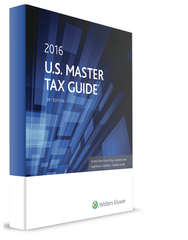 CCH U.S. Master Tax Guide (2016 Edition/2015 Tax Year) – #3516