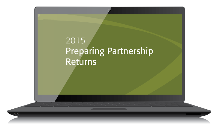 Preparing Partnership Returns Textbook (2015) – Electronic PDF Version - #3547E