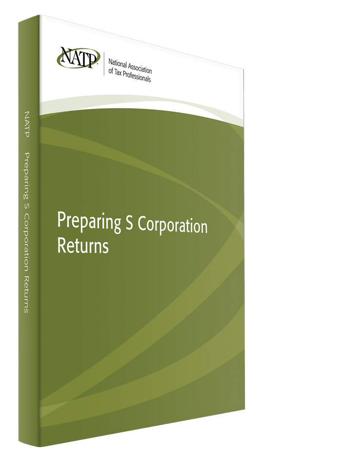 Preparing S Corporation Returns Textbook (2015) - #3548S