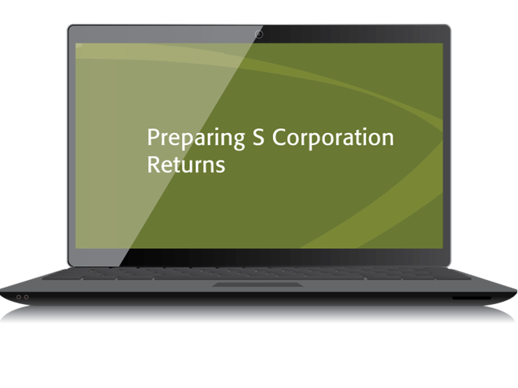 Preparing S Corporation Returns Textbook (2015) – Electronic PDF Version - #3548SE