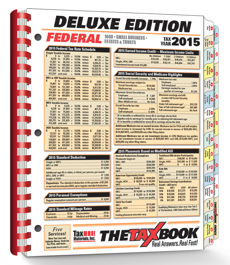 TheTaxBook Deluxe Edition Fast Answer Tax Book (2015) - #3582