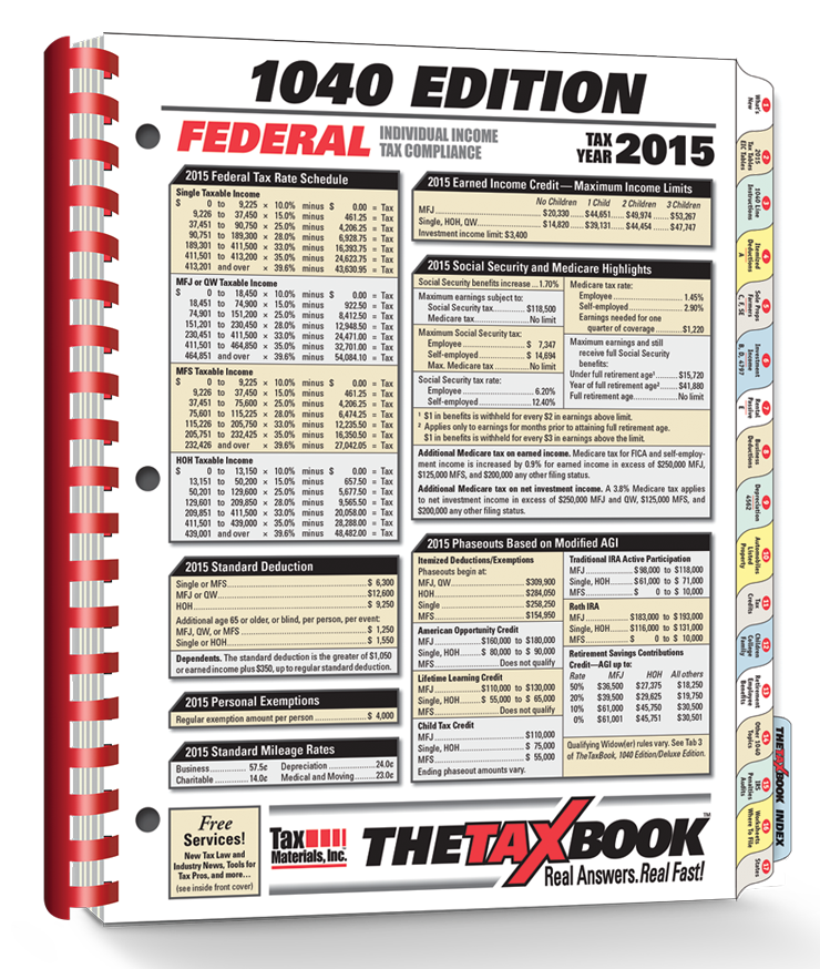 TheTaxBook 1040 Edition Fast Answer Tax Book (2015) - #3583