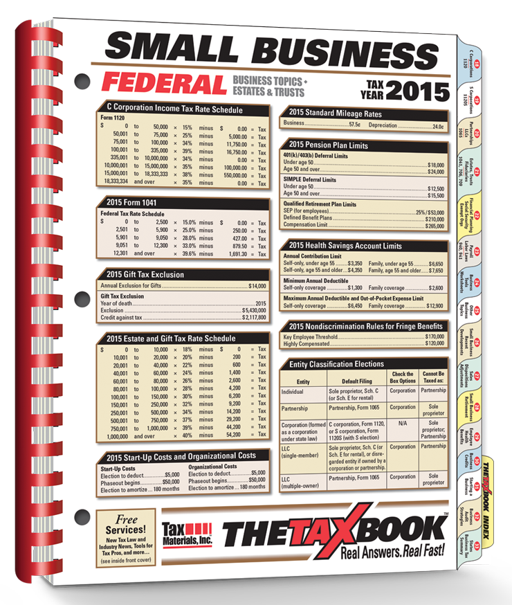 TheTaxBook Small Business Edition (2015) - #3594