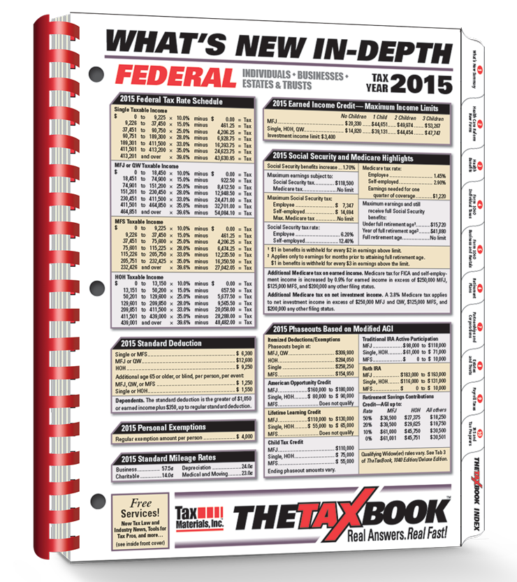 TheTaxBook What's New In Depth Edition (2015) - #3595