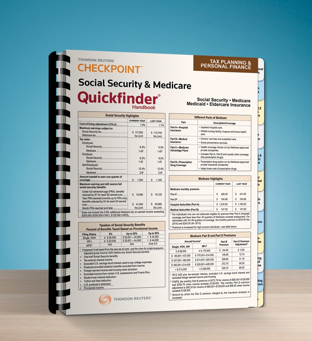 Social Security and Medicare Quickfinder Handbook (2016) - #3615