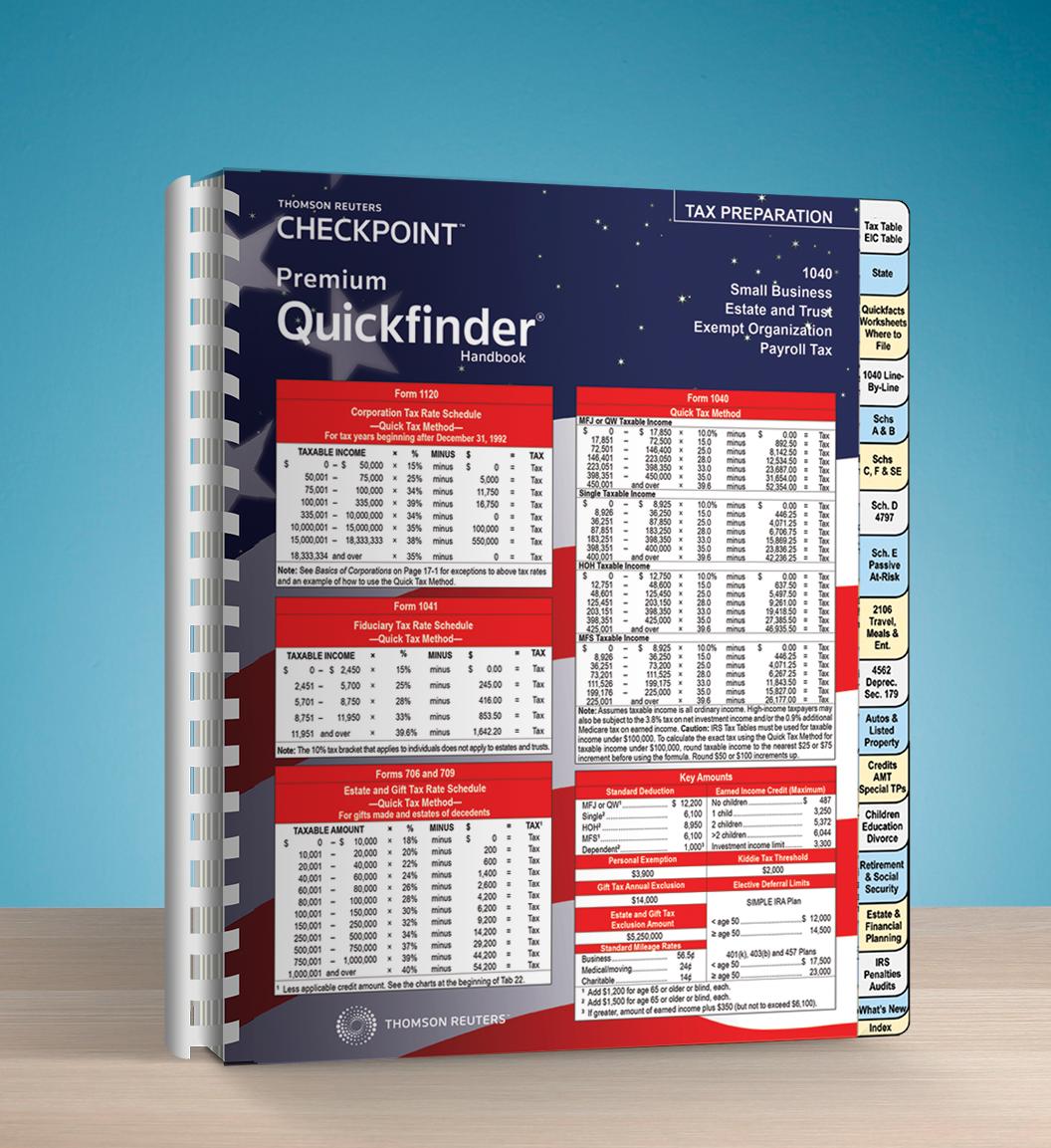 Premium Quickfinder Handbook (2016) - #3627