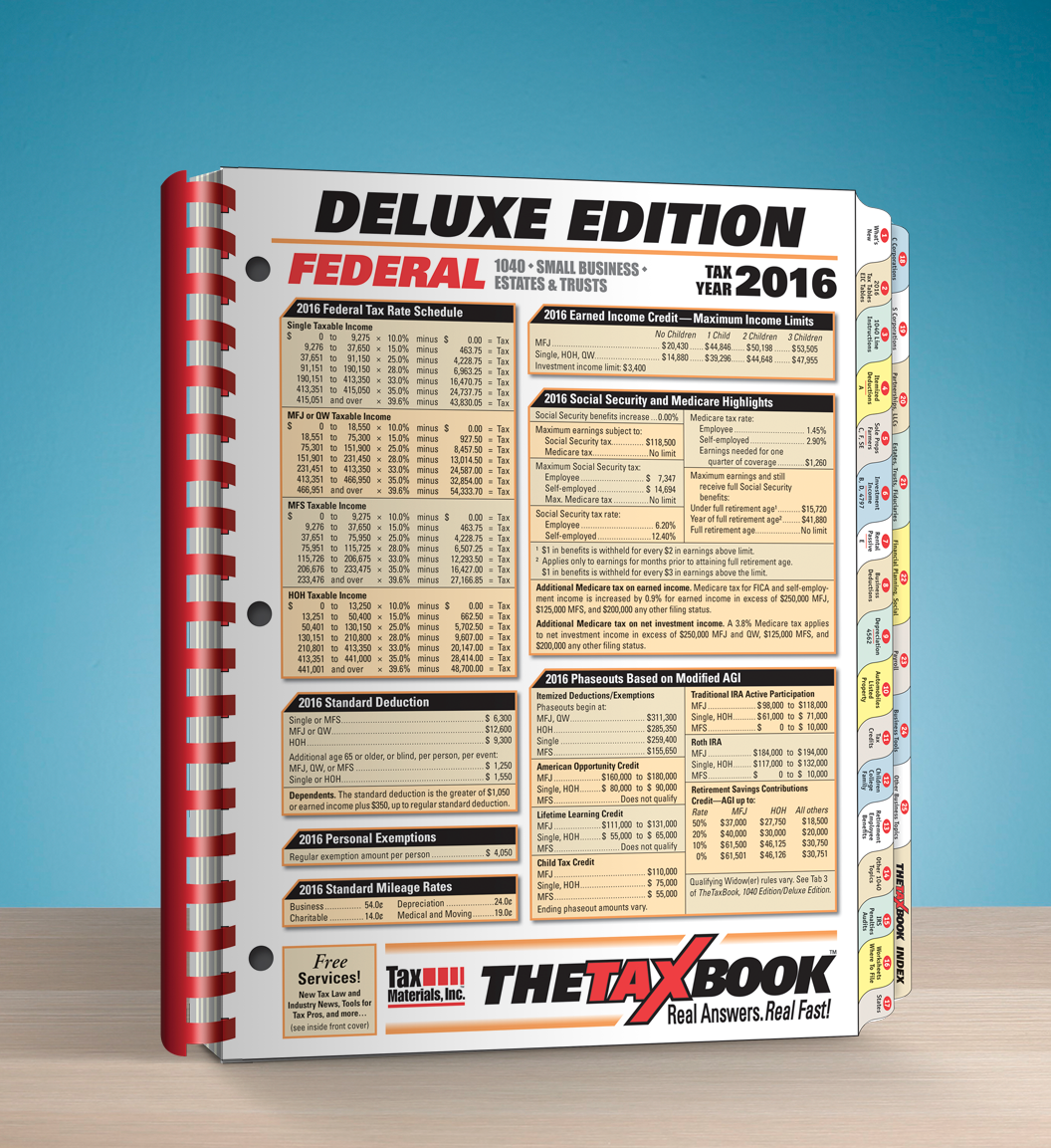 TheTaxBook Deluxe Edition Fast Answer Tax Book (2016) - #3682