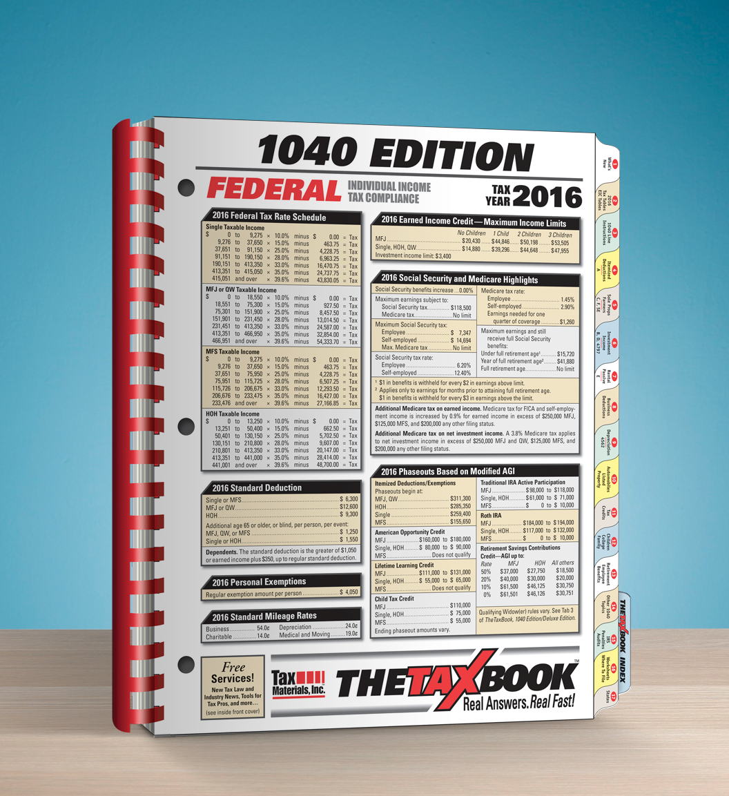 TheTaxBook 1040 Edition Fast Answer Tax Book (2016) - #3683
