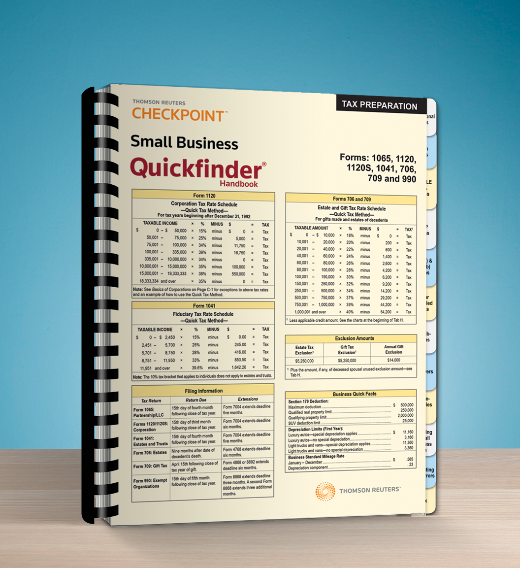 Small Business Quickfinder Handbook (2016) - #3685