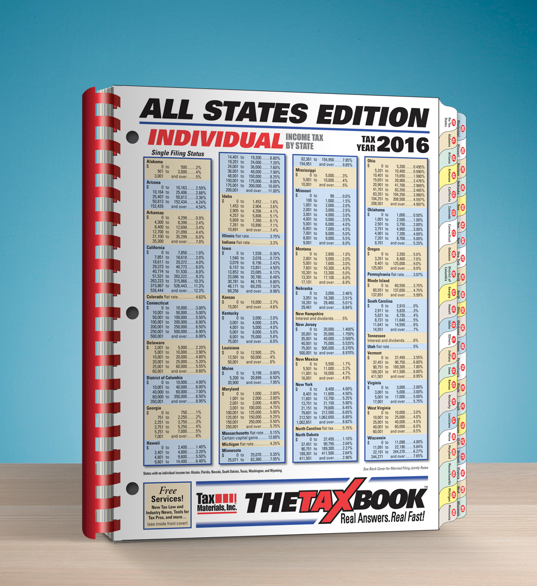 TheTaxBook All States Edition Fast Answer Tax Book (2016) - #3687