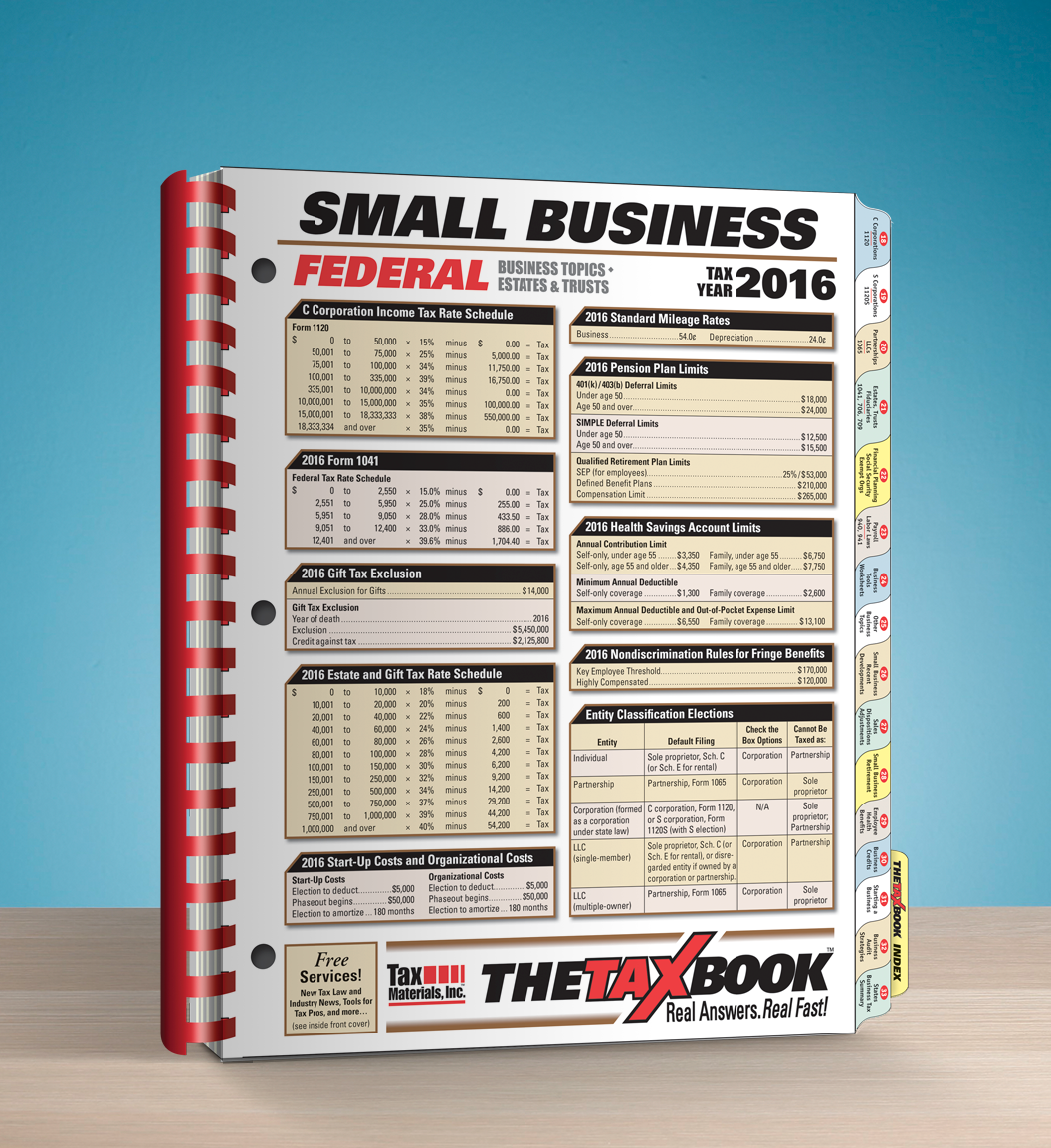 TheTaxBook Small Business Edition (2016) - #3694