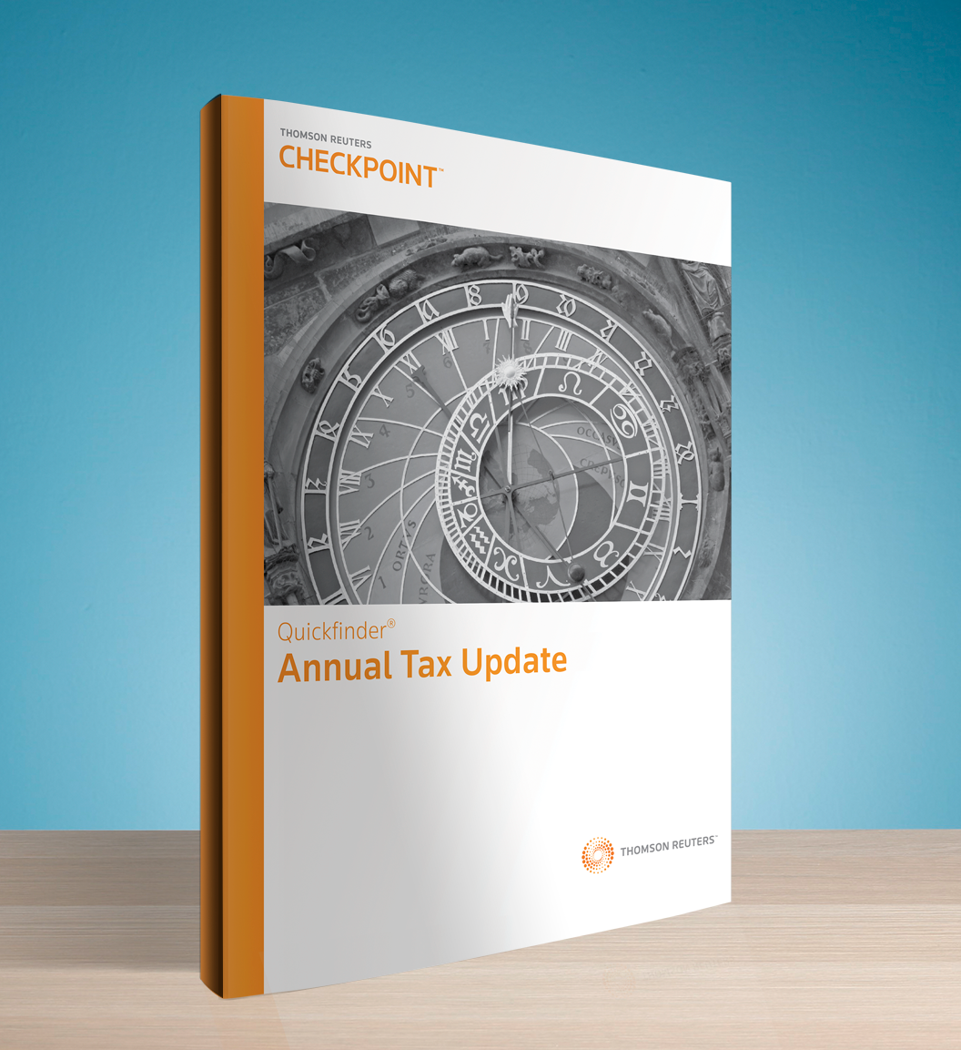 Annual Tax Update Quickfinder Handbook (2016) - #3697