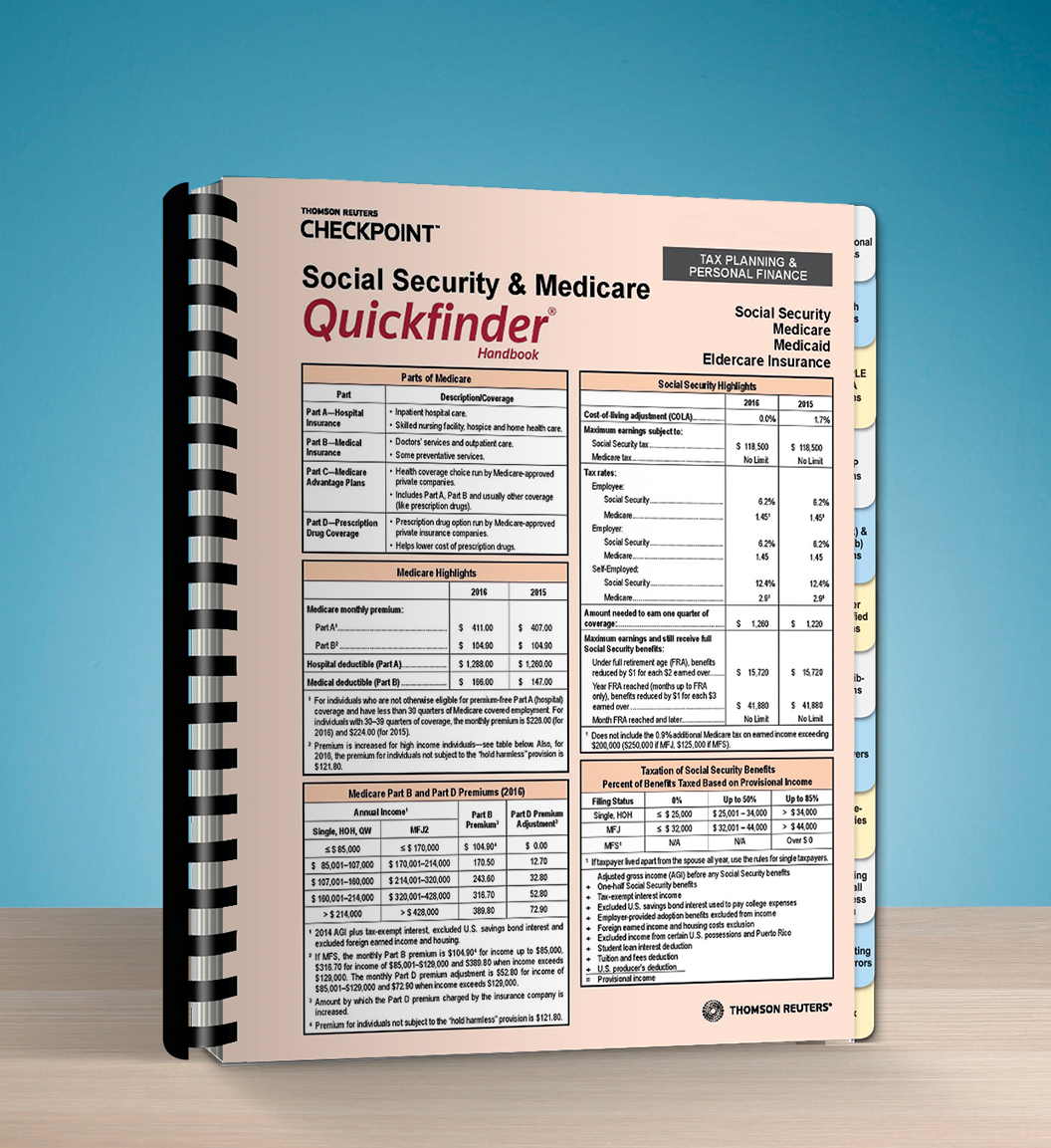 Social Security and Medicare Quickfinder Handbook (2017) - #3715