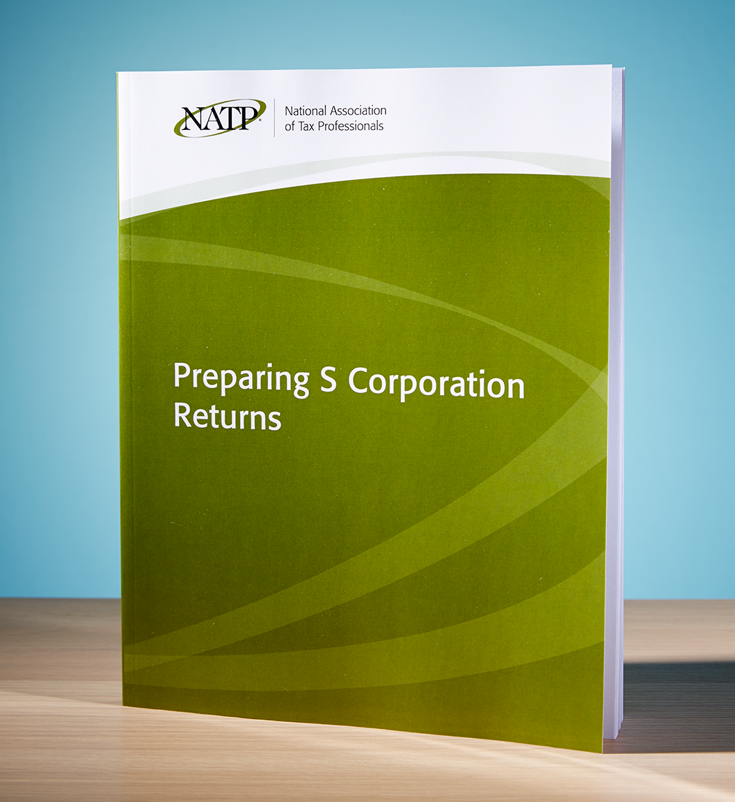 Preparing S Corporation Returns Textbook (2017) - #3748S