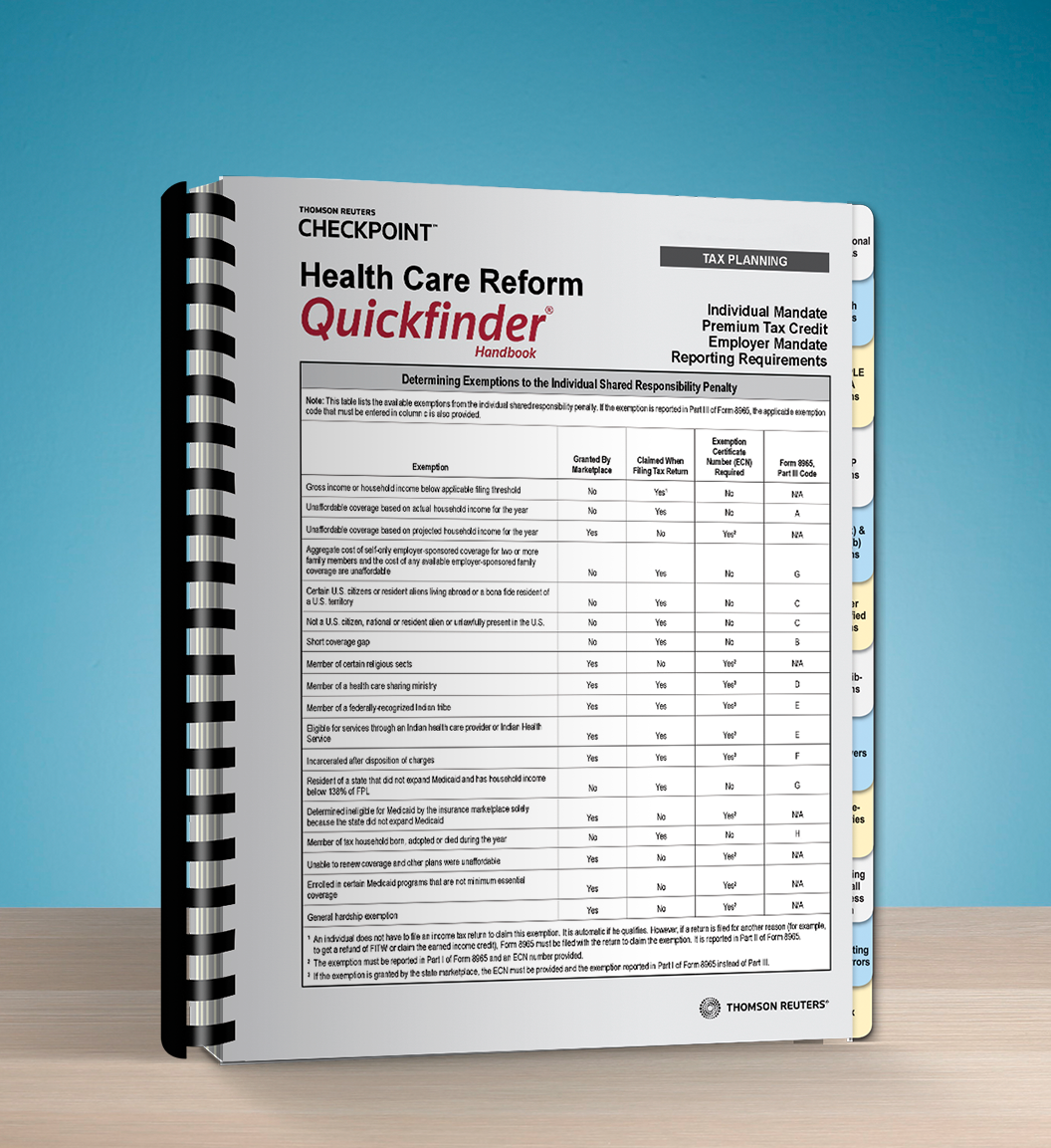 Health Care Reform Quickfinder Handbook (2017) – #3790