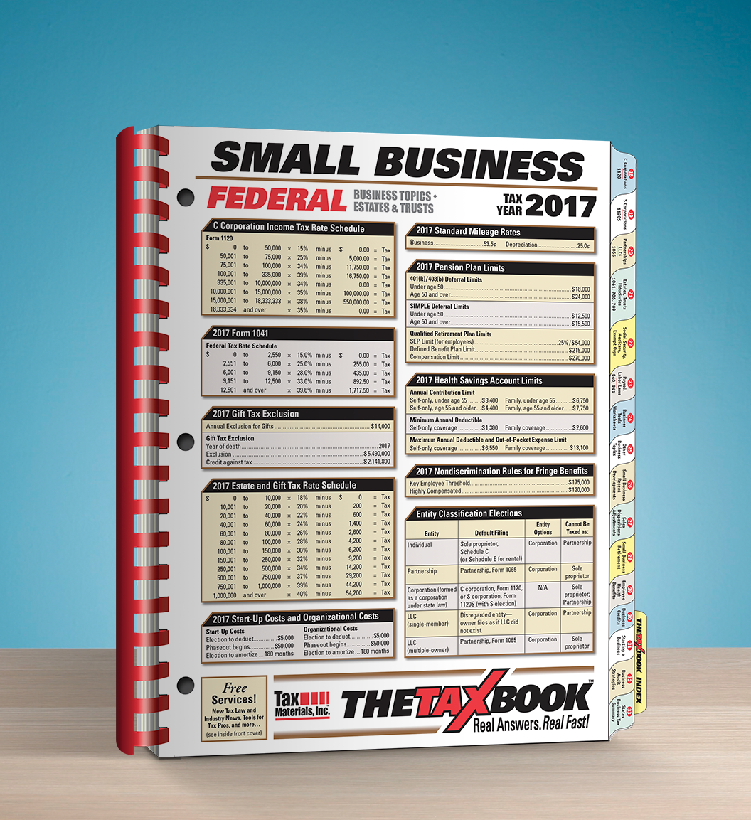TheTaxBook Small Business Edition (2017) - #3794