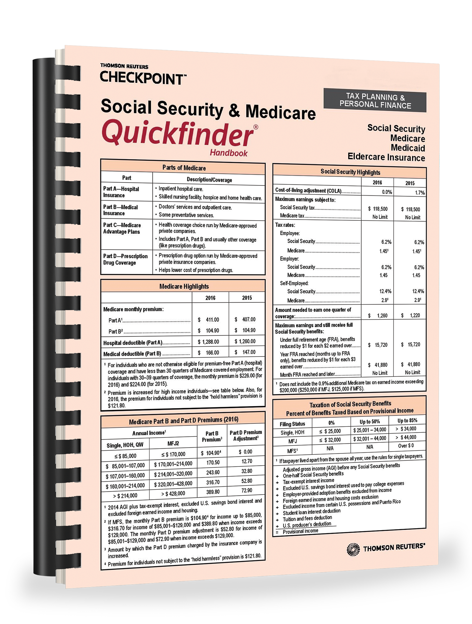 Social Security and Medicare Quickfinder Handbook (2018) - #3815