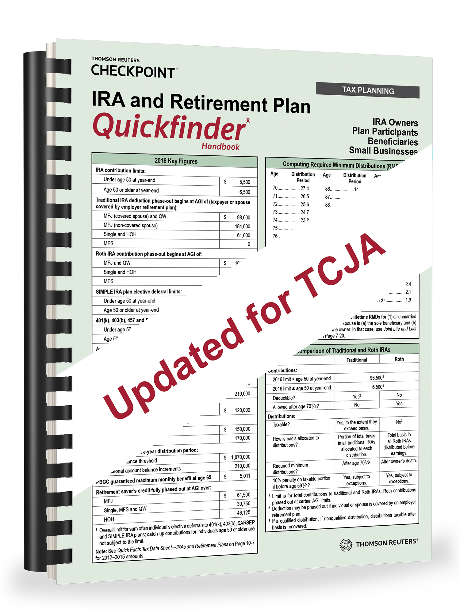 IRA and Retirement Plan Quickfinder Handbook (2018) – #3818
