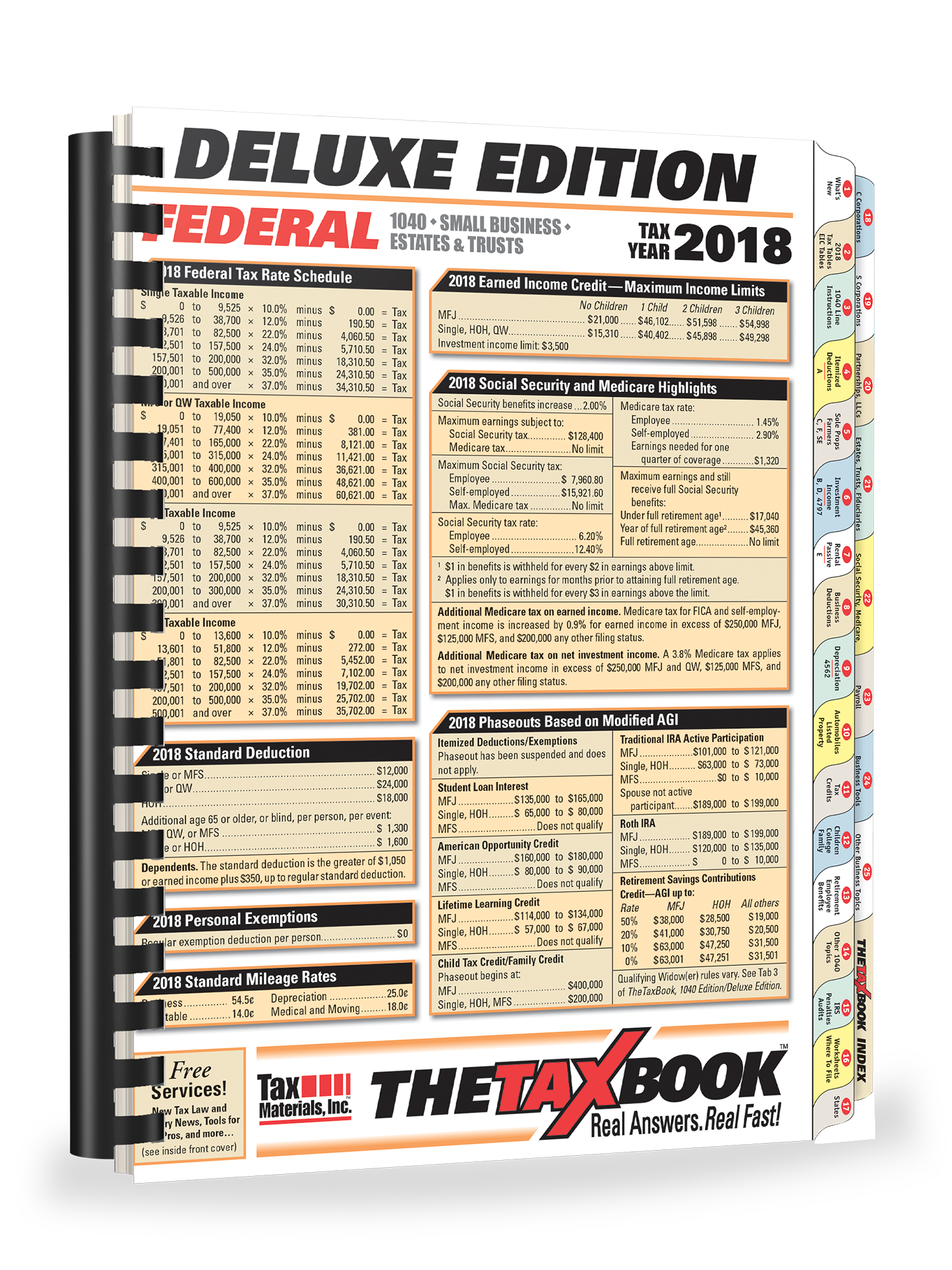 TheTaxBook Deluxe Edition Fast Answer Tax Book (2018) - #3882